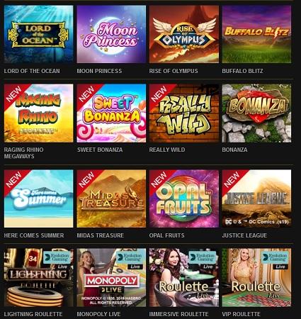 Prova flera nya slotspel nu på Videoslots!