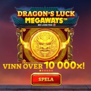 Vinn över 10 000x i Dragon's Luck Megaways!