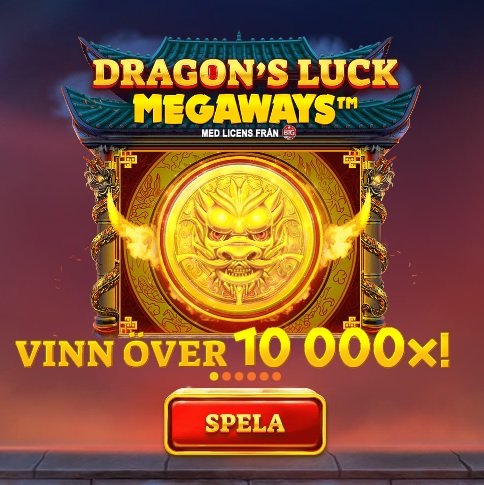 Vinn över 10 000x i Dragon's Luck Megaways!
