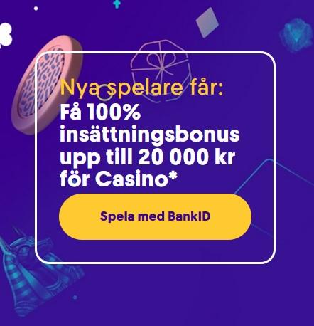 Hämta 20 000 kr bonus för slotsspel på Casumo!