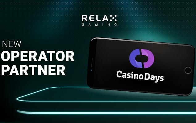 Casino Days får nu slotsspel från Relax Gaming spelleverantör!